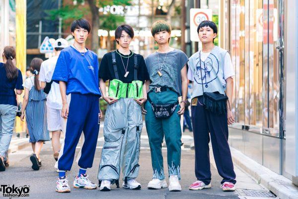 Harajuku Guys in Blue Street Styles w/ Ader Error x Puma, Codona De Moda, Sub-Age, Nike, Adidas, Eytys & Remake Fashion