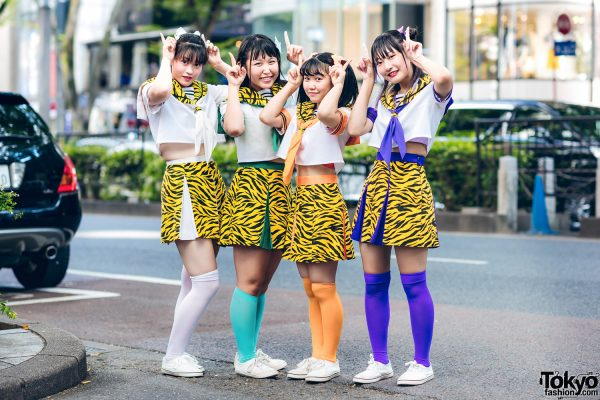 Japanese Idols Harajuku Style w/ Tiger Print & Color-Coordinated Fashion