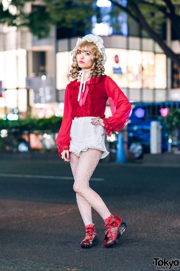 Frilly Harajuku Street Style w/ Angelic Pretty, Snidel Ruffle Shorts, Baby The Stars Shine Bright & Remake Fashion