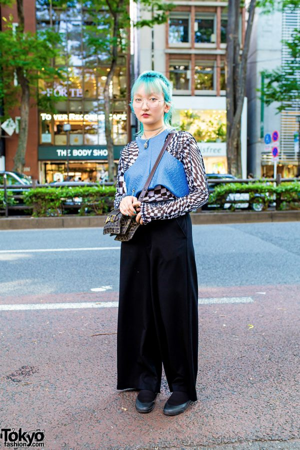 Harajuku Vintage Street Fashion w/ Blue Hair, Faith Tokyo, Fendi & Radd Lounge