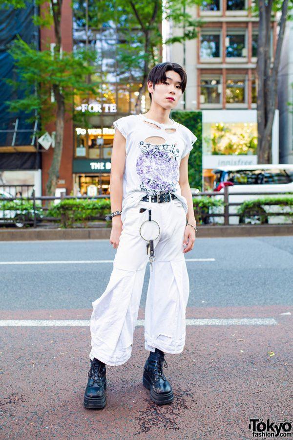 All White Tokyo Street Style w/ Onika Collection, Demonia & Faith Tokyo
