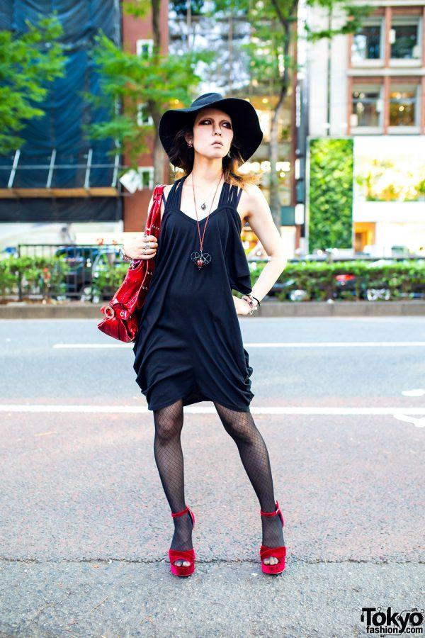 Black & Red Harajuku Street Style w/ Jeffrey Campbell & Vivienne Westwood
