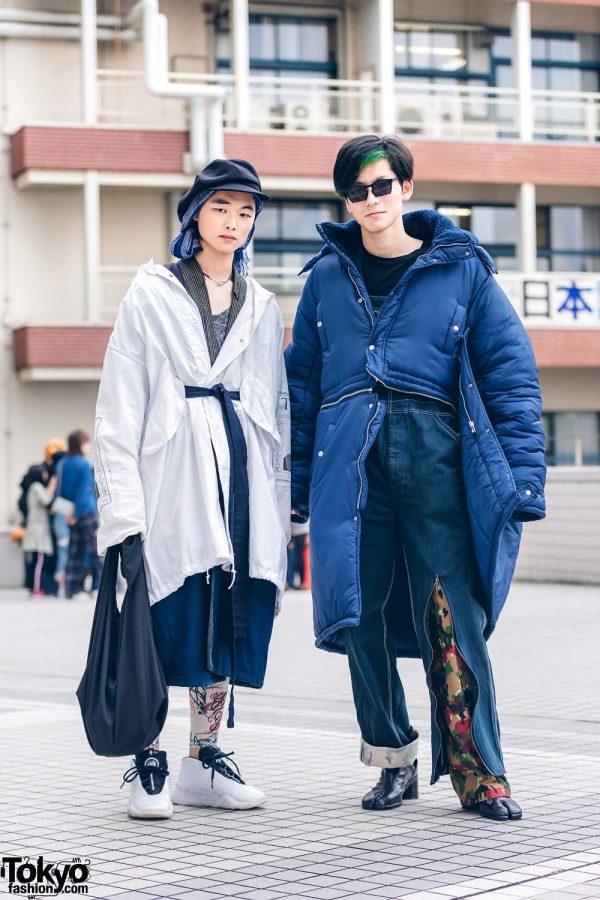 Tokyo Streetwear Styles w/ LAD Musician, Comme des Garcons Homme Plus, D.TT.K Puffer Coat, Dulcamara, Maison Margiela & Alexander Wang