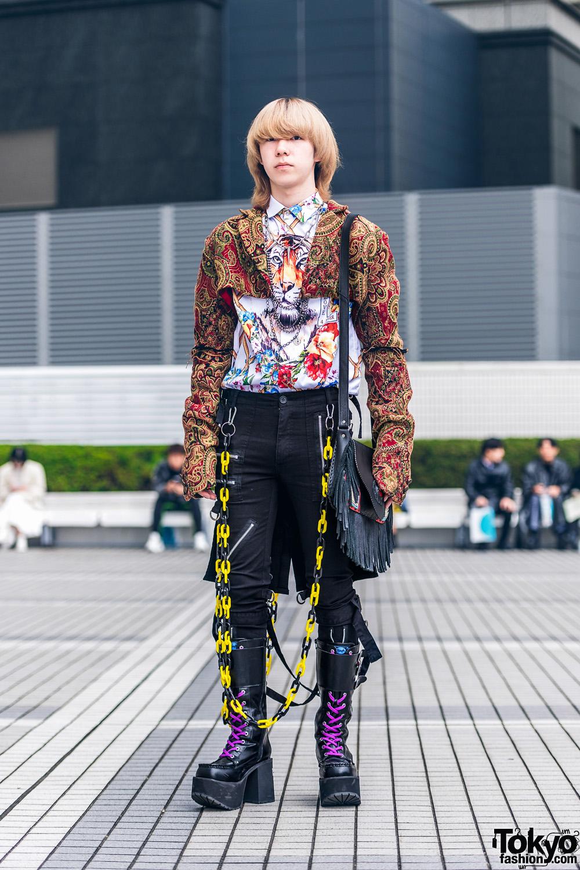 Chains & Mixed Prints w/ Dog Harajuku, Tripp NYC, Vintage & Handmade Fashion, Yosuke, Junya Watanabe & Comme des Garcons