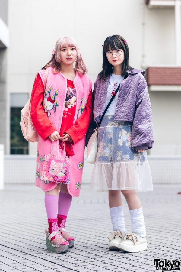 Bunka Fashion College Styles w/ Pink Hair, Round Glasses, Hello Kitty, Undercover, Mikansei, Pink House, Merry Jenny, & Tokyo Bopper