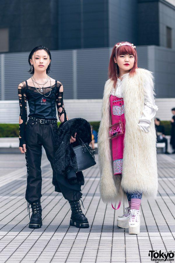 Tokyo Teen Street Styles w/ Perverze Faux Fur Coat, Maison Margiela, Belly Button, Kiki Koenji, New Rock & Faith Tokyo