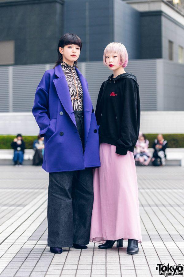 Minimalist Tokyo Street Styles w/ Ombre Hair, Gemini Tale Harness, Vivienne Westwood Coat, John Lawrence Sullivan & Vintage Fashion