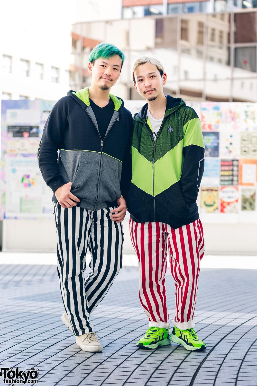 Matching Tokyo Boylesque Dancer Street Styles w/ Dolly Noire, Cookman, Polo Ralph Lauren, Adidas & Anatometal