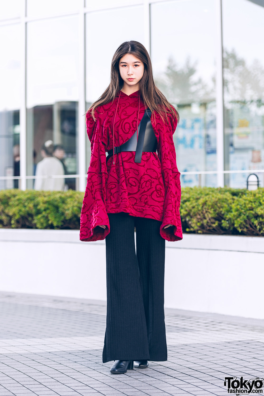 Teen Japanese Model in Tokyo w/ Keisuke Yoshida, Harness, Pleated Pants & Boots