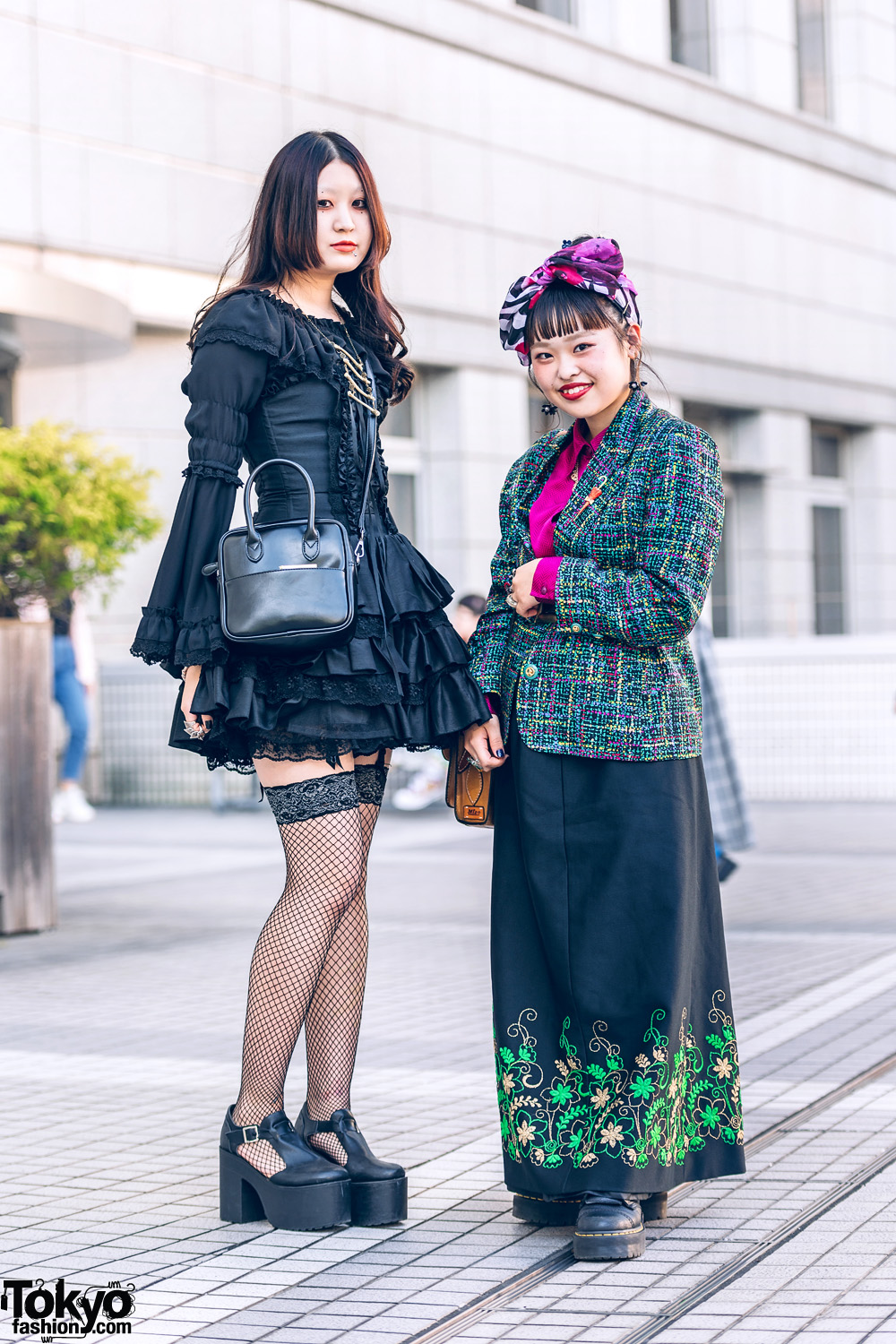 Colorful Head Scarf, Baby The Stars Shine Bright Dress, Kinji Knit Blazer, RRR Shirt, Iro Wo Matoue, Vivienne Westwood, Satchel Bags & Dr. Martens
