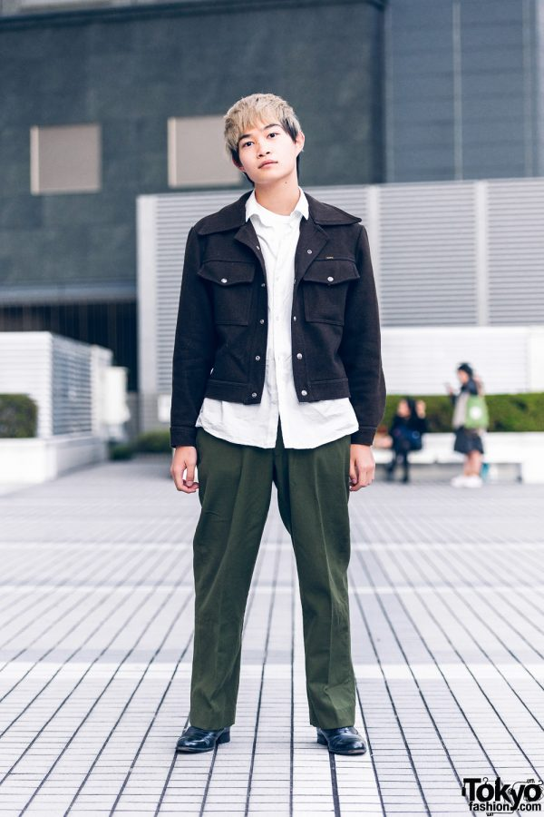 Bunka Fashion College Street Style w/ Lee Jacket, Digawell Shirt & US Army Pants