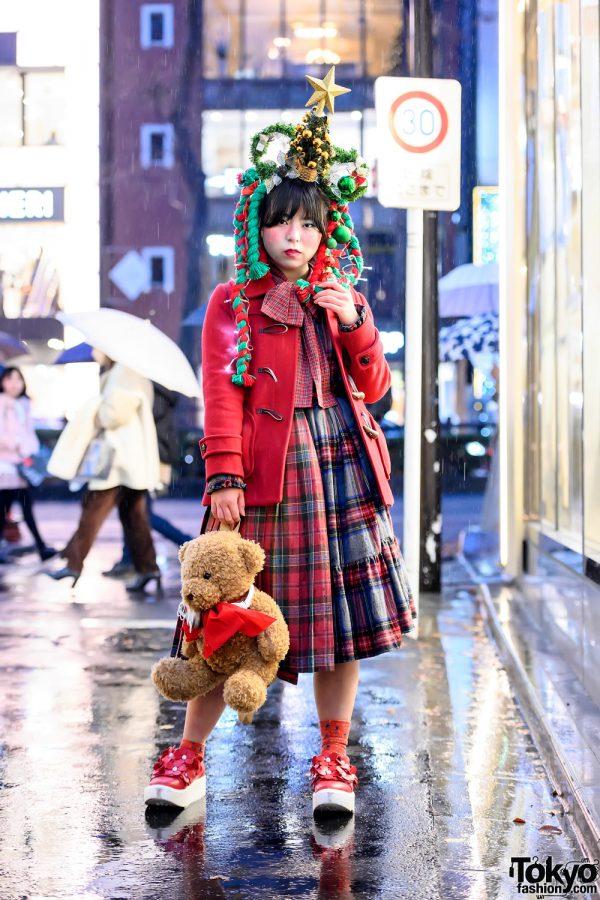 Harajuku Christmas Tree Street Style w/ HEIHEI, Hand Made, Tokyo Bopper & Vintage Fashion