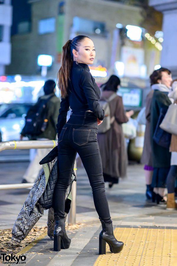 Harajuku Street Style w/ Juemi Crop Top, Emoda Skinny Jeans & Platform Booties
