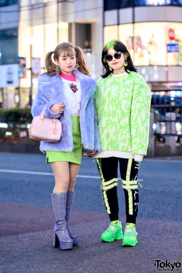 Harajuku Girls w/ Billie Eilish Inspired Hairstyle, Kobinai, Office Kiko, Hyper Couture, Furla & Baby Shoop