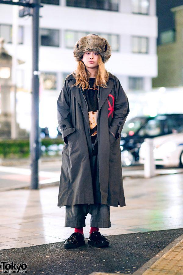 HEIHEI Fashion Designer's Style w/ Furry Hat, Vivienne Westwood Coat, Clockwork Orange Sweater, & Comme Des Garcons x Marc Jacobs Leopard Shoes