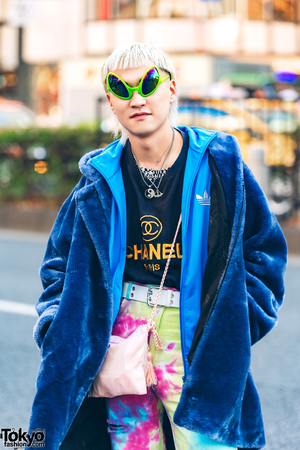 Checkerboard Hairstyle: Colorful Layered Resale Tokyo Street Styles W/ Alien