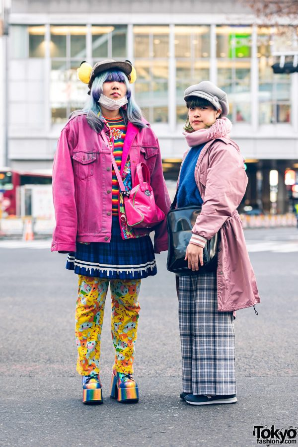 Colorful Streetwear in Shibuya w/ Pikachu Ears, Kobinai, Listen Flavor, Aymmy In The Batty Girls, WEGO, RRR, & Demonia
