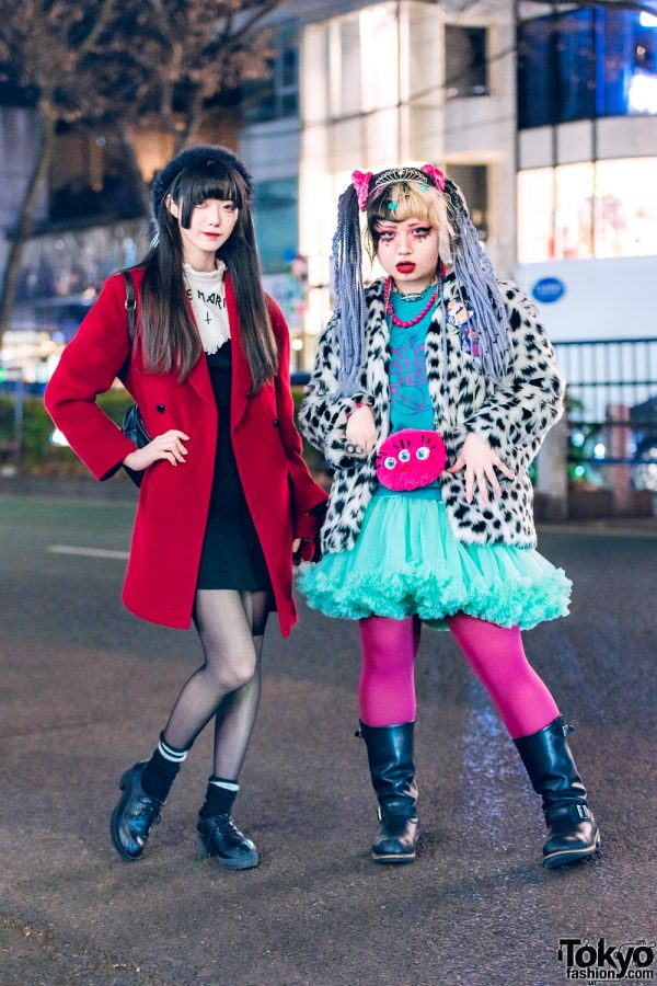 Tokyo Girls Street Styles w/ Tiara, Wool Coat, WEGO, Chicago, Tulle Skirt, Disney Villains Backpack & ABC Mart