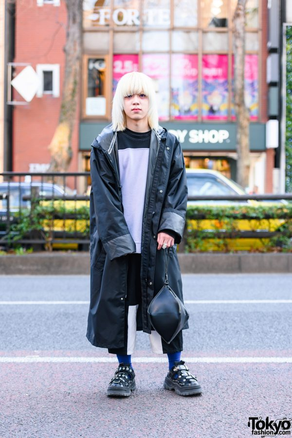 Tokyo Streetwear w/ Fringed Bob, Vivienne Westwood Armor Ring, Vetements Hooded Coat, Martine Rose, Lau Made in Japan, Yohji Yamamoto Bag & Eytys Shoes