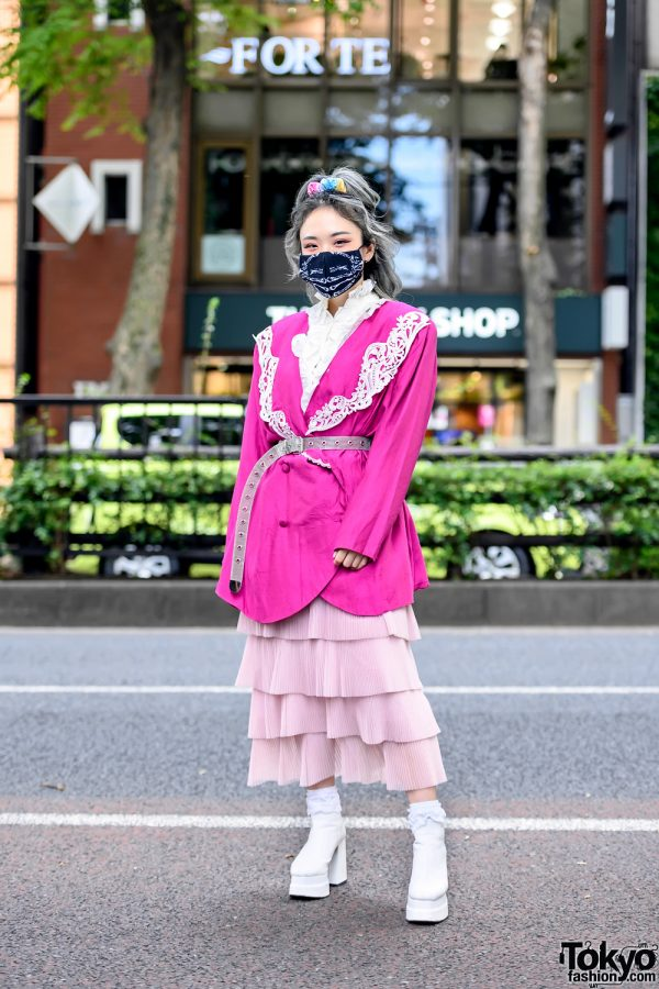 Pink Tokyo Street Style