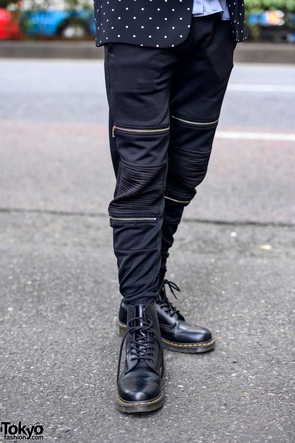 Zipper Pants & Dr. Martens Boots