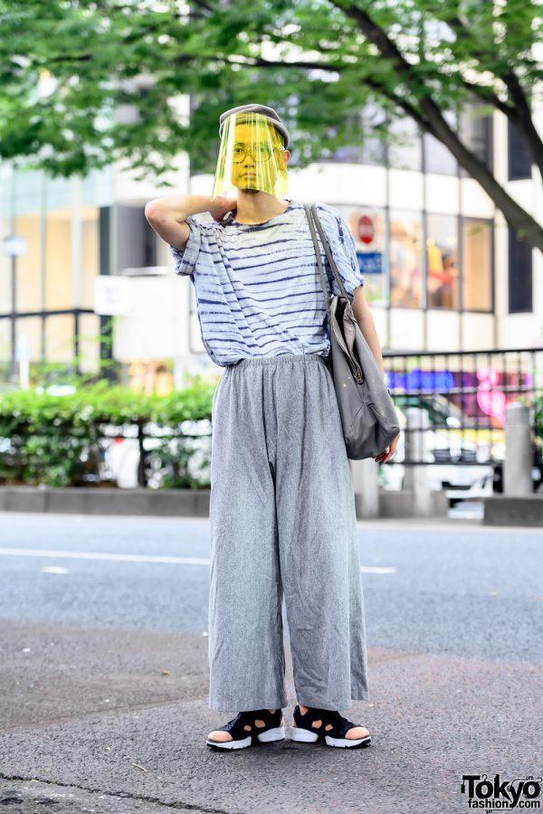 Japanese Hairdresser Wearing Sokkyou Vintage