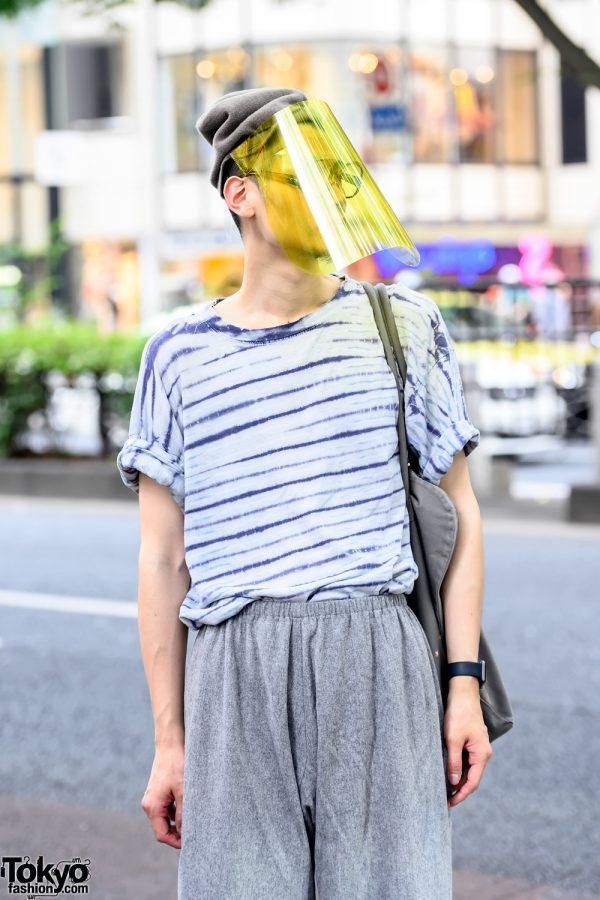 Sokkyou Vintage Striped Shirt & Visor