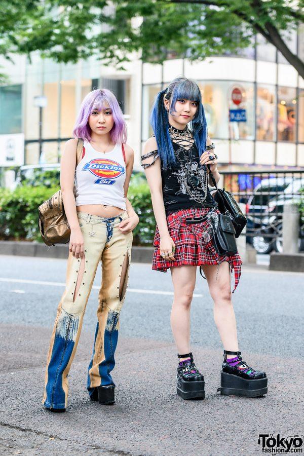 Japanese Idols Street Styles w/ Purple Bob, Blue Twin Tails, Vivienne Westwood, Pinnap, Sex Pot Revenge, Goregro, Coffin Bags & Yosuke