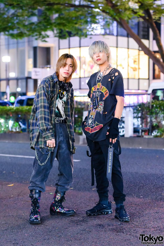 Harajuku Rock-Inspired Menswear w/ Guns N' Roses & Bullet For My Valentine Shirts, Culture Kings, Nike Vapor Max, Faith Tokyo, Vintage Denim & Yosuke Boots