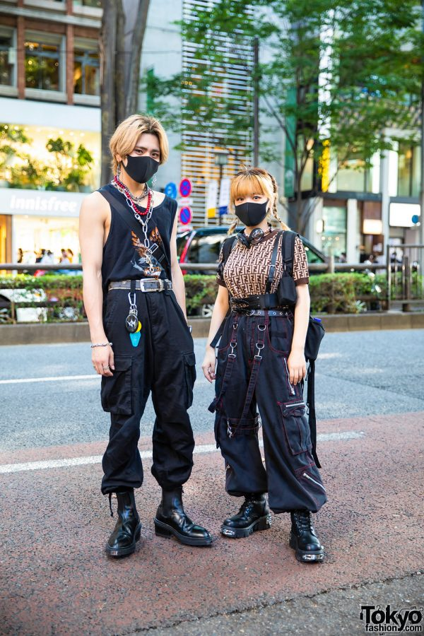 Harajuku Streetwear Styles w/ Face Masks, Tribal Earrings, Harley Davidson, Prada, Fendi, Never Mind the XU, Tripp NYC & Eytys