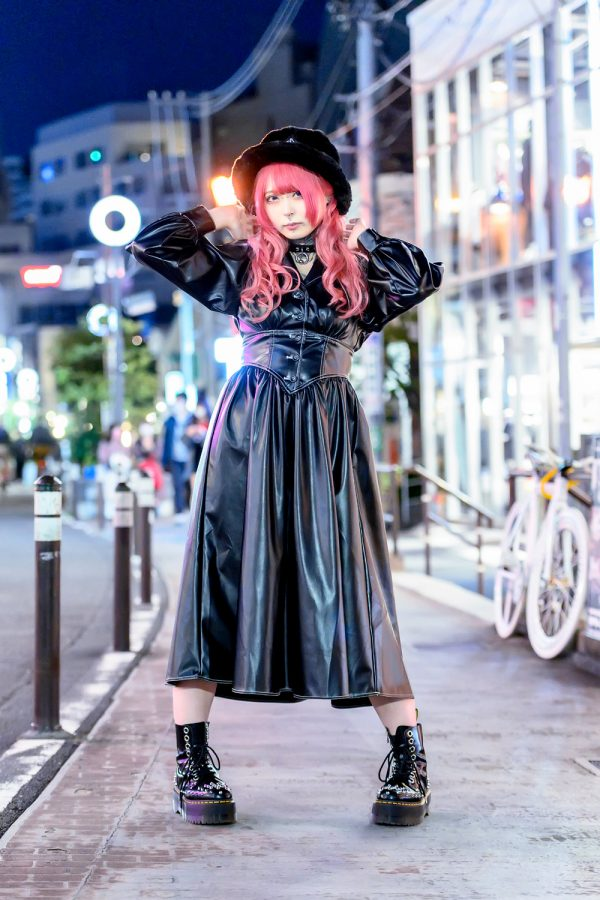 Harajuku Girl w/ Tattoos and Pink Hair