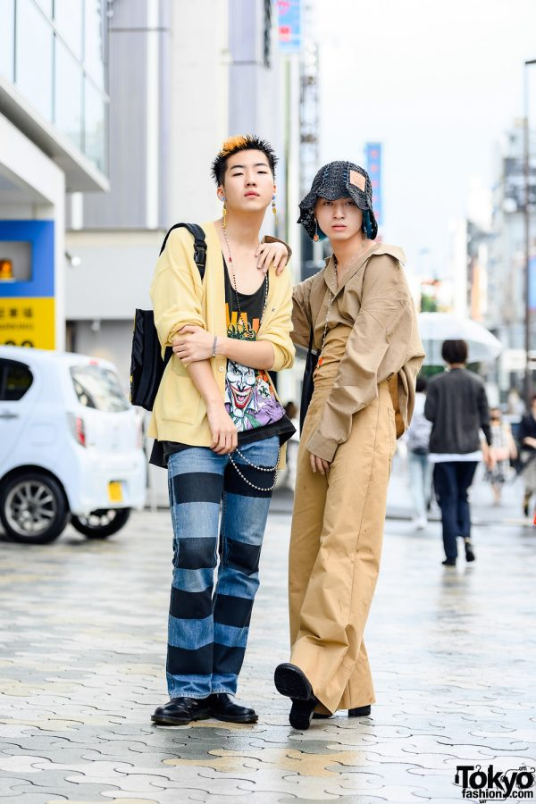 Harajuku Mens Street Styles w/ Spiky Hair, Joker Shirt, Joegush, M.Y.O.B., Raf Simons, Lacoste, Random Identities & Dr. Martens