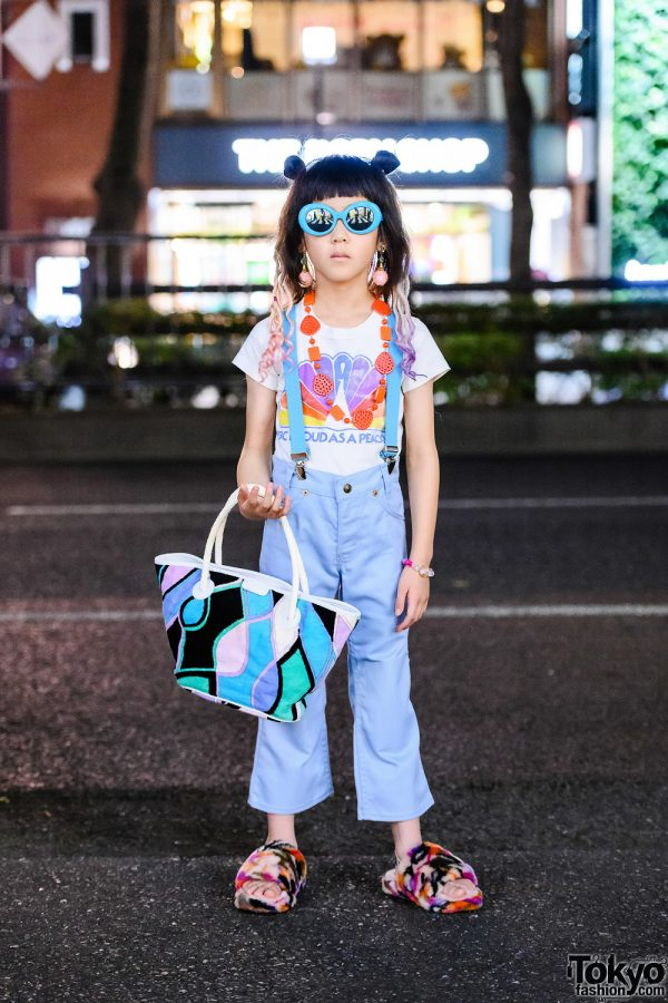 Harajuku Kid Honey Supply Vintage Street Style w/ Sons & Daughters Sunglasses, Vintage Levi's, Emilio Pucci Tote & Ugg Fuzzy Slippers