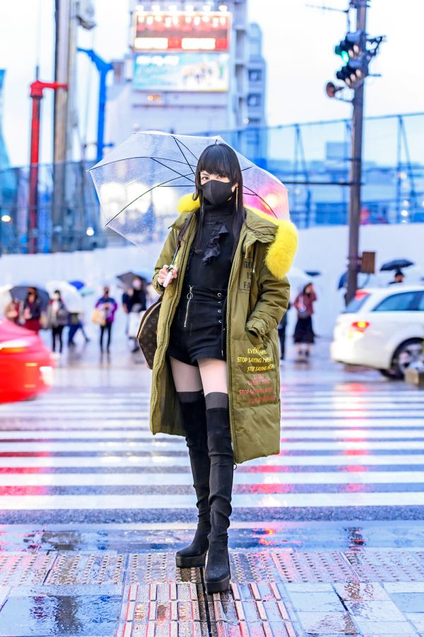 Japanese Street Style For Rainy Day