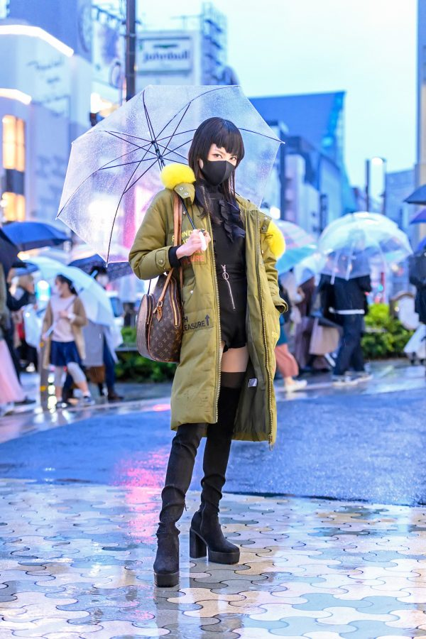 Harajuku Street Style In The Rain