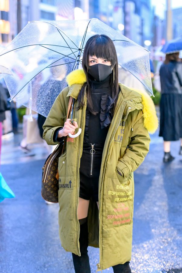 Harajuku Girl With Clear Umbrella