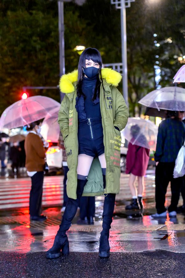 Harajuku Girl in The Rain