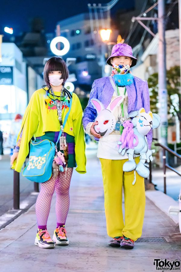 Colorful Street Styles in Harajuku w/ FR2 Bunny Mask, Gameboy, Mang Sweatshirt, Jouetie, Cape Robbin Sneakers, Betty's Blue & Codona De Moda