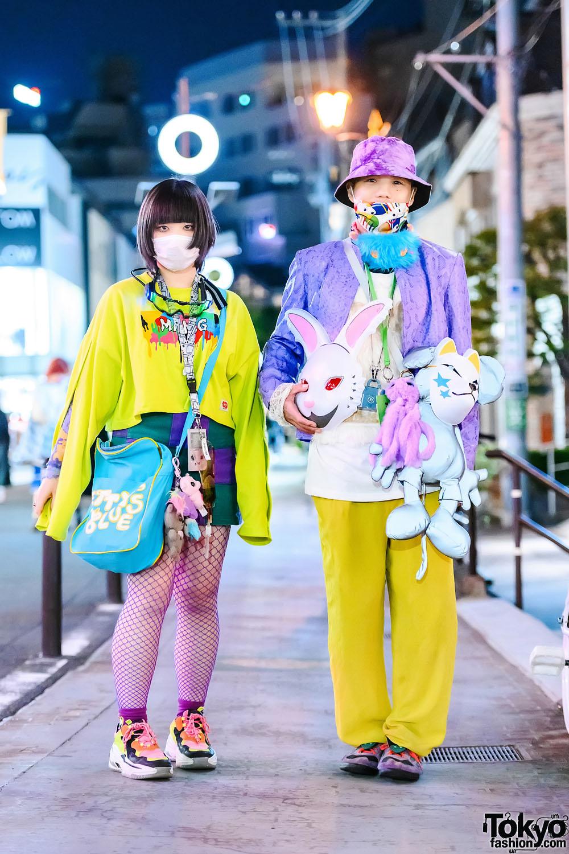 Colorful Street Styles in Harajuku w/ FR2 Bunny Mask, Gameboy, Mang Sweatshirt, Jouetie, Cape Robbin Sneakers, Betty's Blue & Codona De Moda