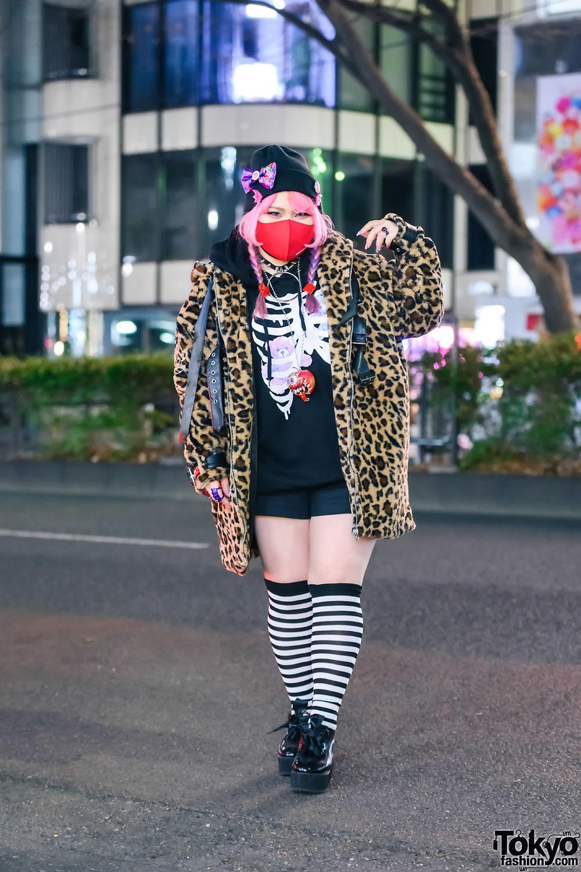 Kawaii Harajuku Street Style w/ Listen Flavor Leopard Jacket, Christian Roland, Conpeitou, Goregro & Tensai Tadacy
