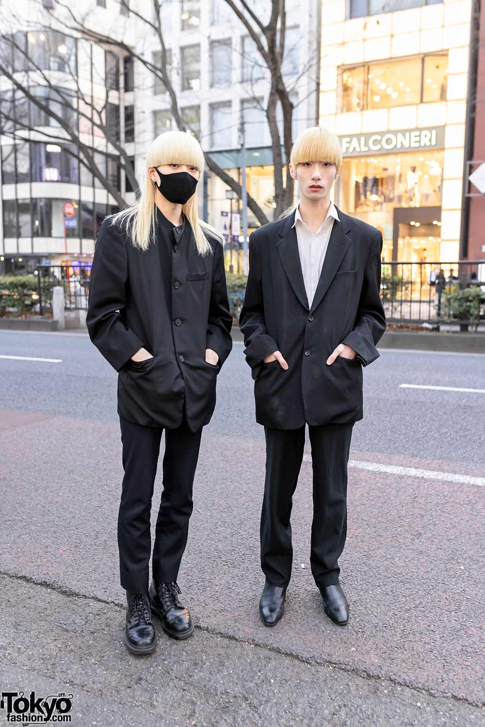 Japanese Male Models With Blonde Hair in Harajuku Wearing Comme Des Garcons, Diet Butcher Slim Skin & Issey Miyake Men