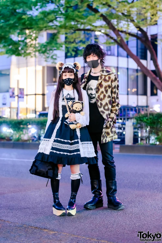 Harajuku Couple in Vivienne Westwood & Baby The Stars Shine Bright Street Styles + Bear Ears
