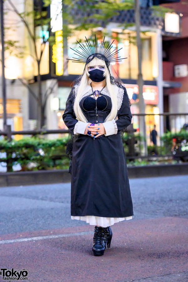 Gothic Harajuku Street Style w/ Wakana Brooch, Halo Headpiece, Corset, Conpeitou, 天才TADACy & Anna Sui