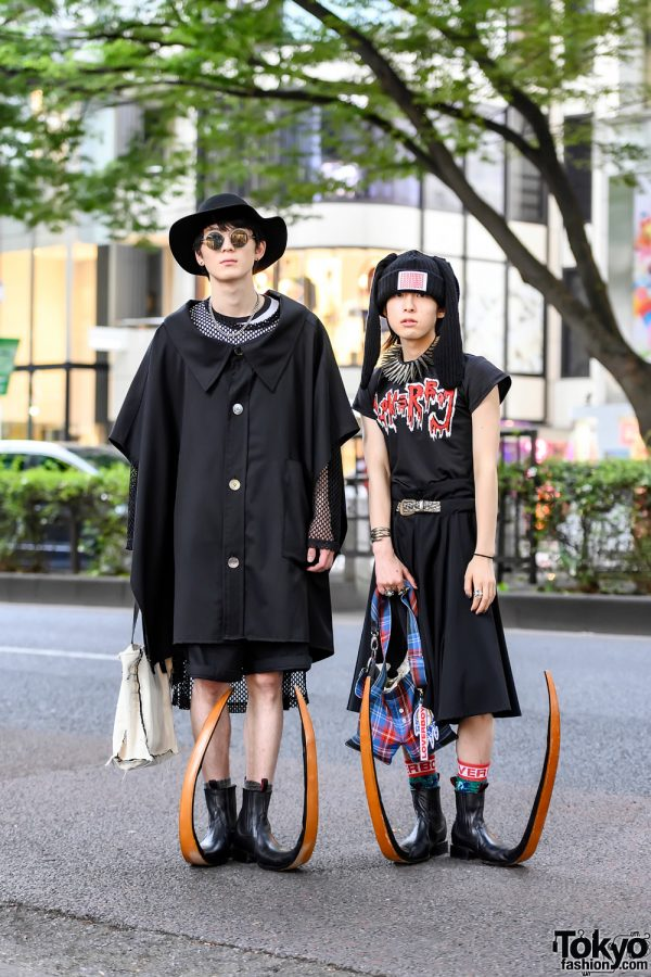 Harajuku Guys w/ Comme Des Garcons Homme Plus Pointy Mexican Guarachero Boots, Charles Jeffrey Loverboy, Anrealage & Yohji Yamamoto