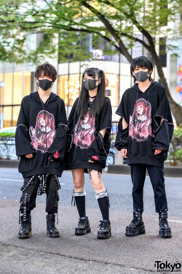 Harajuku Street Styles w/ Shiina Pikarin x Reflem Hoodies, Hypercore, Milkboy, Yosuke USA, Vivienne Westwood & Dr. Martens