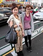 Japanese Glasses Girl & Large Hair Bun in Harajuku