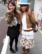 Bandana Hair Bow, Cheetah Print & Hat in Harajuku