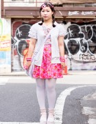 Harajuku Girl w/ Decora Hair Clips, ACDC Rag, Swimmer & WEGO Fashion