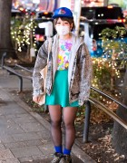 Acid Wash, Leopard Print & Floral Pattern in Harajuku