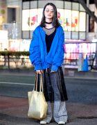Harajuku Street Style w/ Alpha Industries Bomber Jacket, Celine Wide Leg Pants & Sunsea Shoes